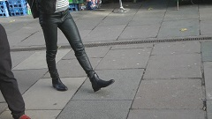 Girl-leather-gloves-holding-hands-candid-london-2