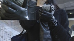Girl-leather-gloves-camera-candid-london-2