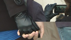 Girl-leather-gloves-holding-hands-candid-london-1